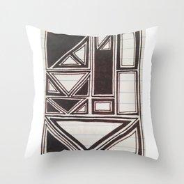 Squares Squared  Throw Pillow