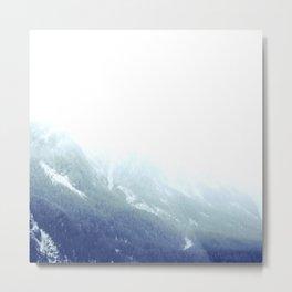 Snowy gradient Metal Print