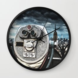 view from top of the rock Wall Clock