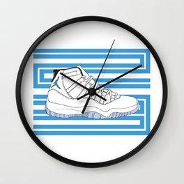 Jordan 11 Columbia Wall Clock