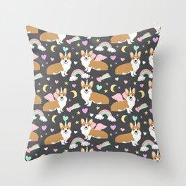 Corgi Unicorn blanket  cute dog corgi Throw Pillow