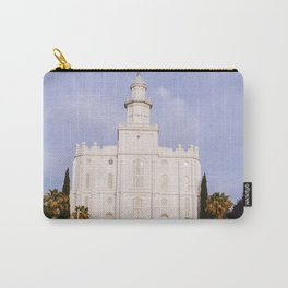Saint George Utah LDS Temple Carry-All Pouch