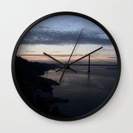 Cristo Rei Sunset Wall Clock