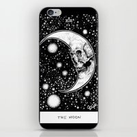 tarot iPhone & iPod Skins featuring Moon Tarot by Corinne Elyse