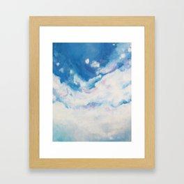 descending clouds Framed Art Print