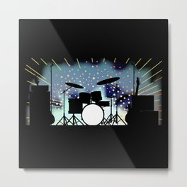 Bright Rock Band Stage Metal Print