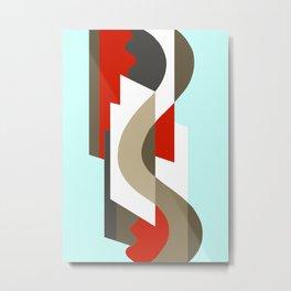 SUISSE - Art Deco Modern: SIXTIES OFFICE Metal Print