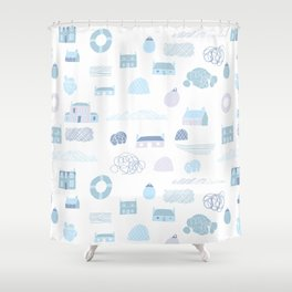 Island life Shower Curtain