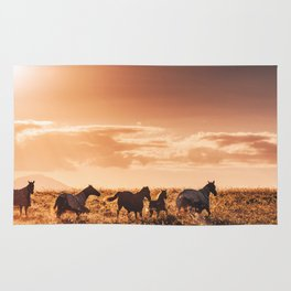 wild horses in australia Rug