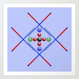 Pool Game Design v3 Art Print