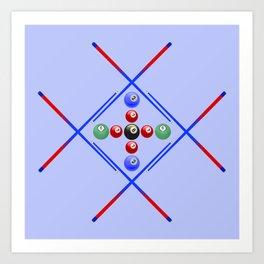 Pool Game Design v3 Art Print