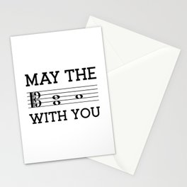 May the 4th be with you (light colors/alto clef) Stationery Cards