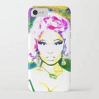 nicki iPhone & iPod Cases featuring Nicki Watercolor by Toki Hernandez