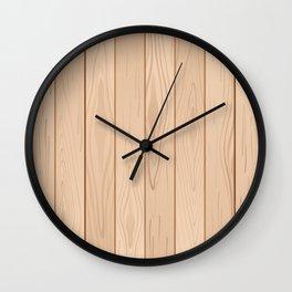 Light Brown Wood Floor Pattern Wall Clock