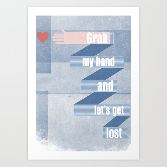 grab my hand... Art Print