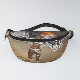 Cute steampunk girl with wings Fanny Pack