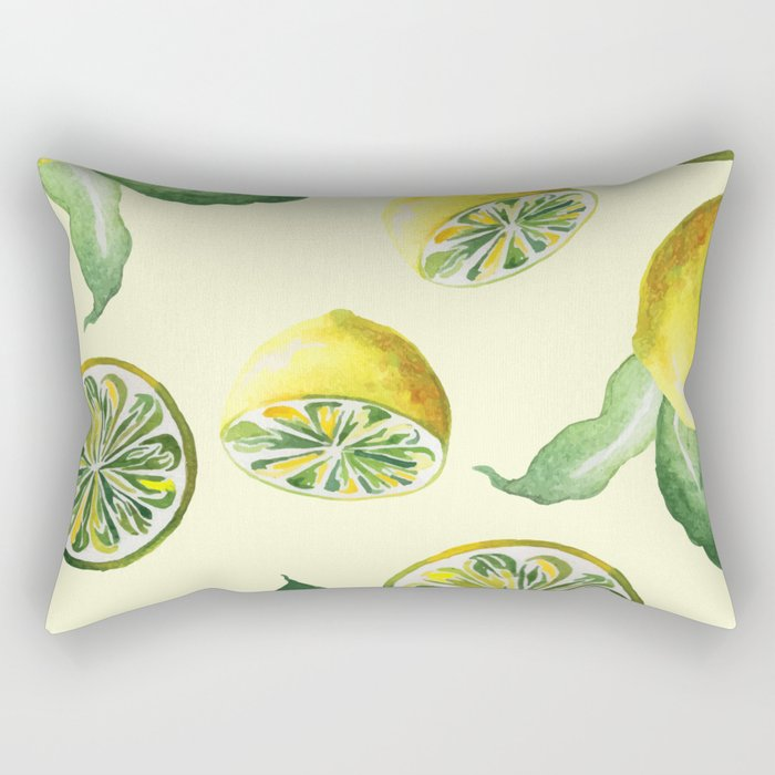 Watercolor lemons #society6 Rectangular Pillow
