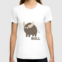 bull T-shirts featuring Bull by Thomas Official