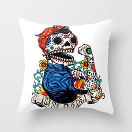 We Can Do It Skull Throw Pillow