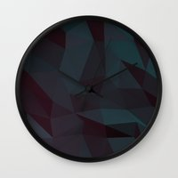low poly Wall Clocks featuring low poly by yanni stathopoulos