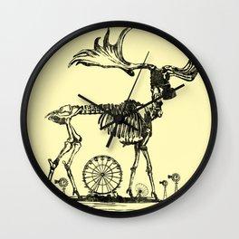 Gas Mask Deer Wall Clock