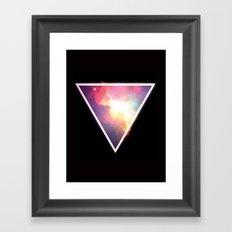 Nebula Triangle Framed Art Print