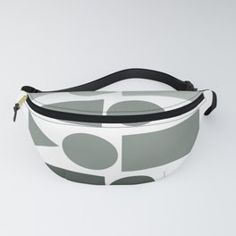 Ombre Shapes in Grey Fanny Pack