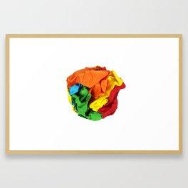 Crumpled paper ball Framed Art Print