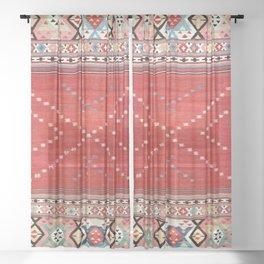 Fethiye Southwest Anatolian Camel Cover Print Sheer Curtain