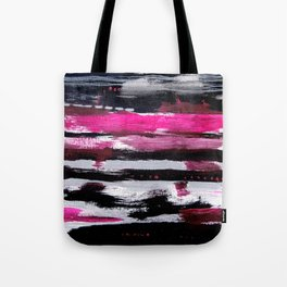 Pink & Black Tote Bag