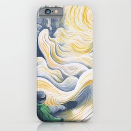 Snowboader in a 'Pillow Paradise' iPhone Case
