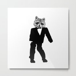 Twisted Raccoon Metal Print