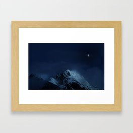 Moonlight on Aoraki / Mount Cook. Framed Art Print
