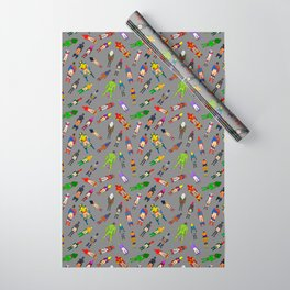 Butt of Superhero Villian - Dark Wrapping Paper