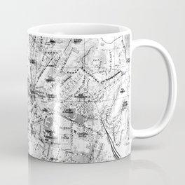 Vintage Map of Genoa Italy (1906) BW Coffee Mug