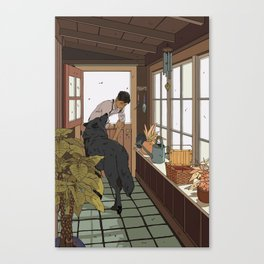 The Mudroom Wolf Canvas Print