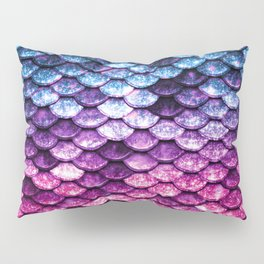 Mermaid Tail Pink Purple Blue Pillow Sham
