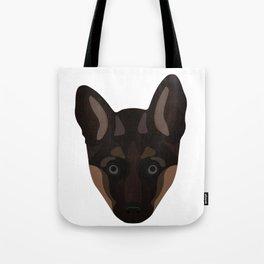 German Shepard Puppy Decal Tote Bag