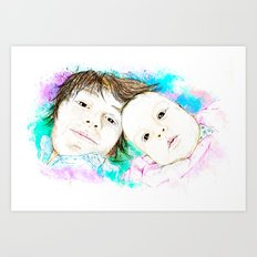 Julian and Valentina Art Print
