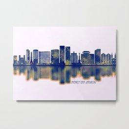 Port Of Spain Skyline Metal Print