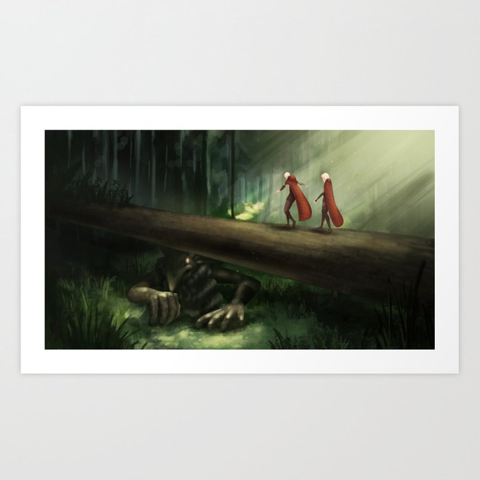 Trollbridge Art Print