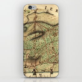 Map Of Camden 1778 iPhone Skin