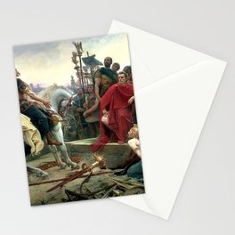 Vercingetorix Throws Down His Arms At The Feet Of Julius Caesar Stationery Cards