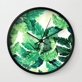 Tropical Green Wall Clock