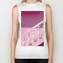 Pink Stairway Biker Tank