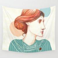 virginia Wall Tapestries featuring Dear Virginia... by flaviasorr