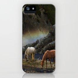 Waterfall Fantasy Herd iPhone Case