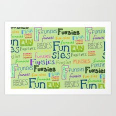 Funsies Art Print