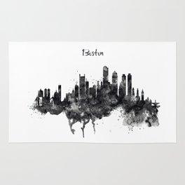 Boston Skyline Black and White Rug