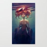 loish Canvas Prints featuring Mermaid by loish